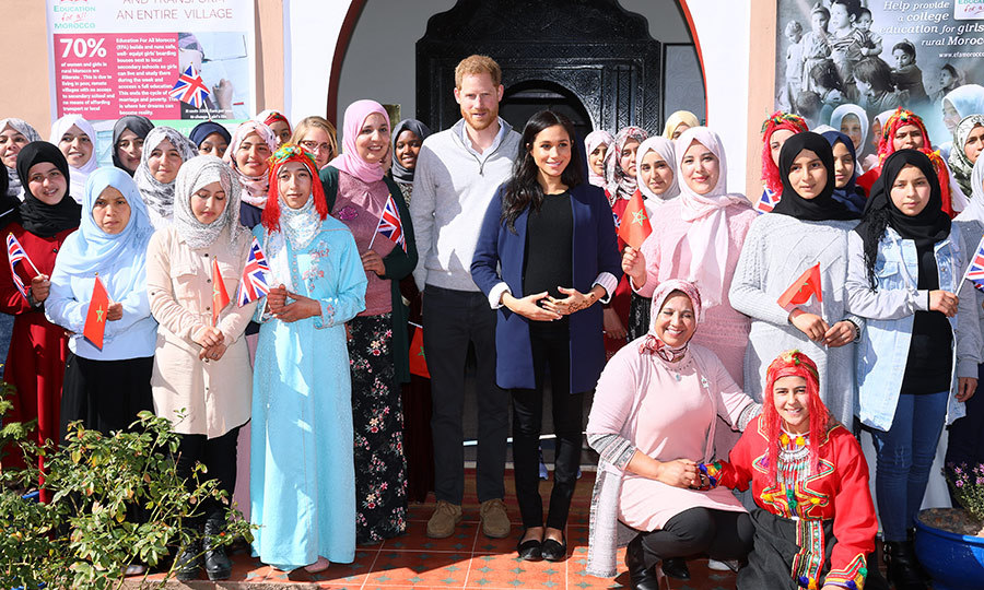 The Duke and Duchess of Sussex made a colourful stop by the 'Education For All' boarding house for girls aged 12 to 18 on Feb. 24 – their second day in Morocco.