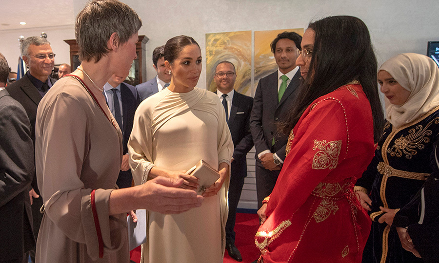 Meghan spent some time chatting with influential female entrepreneurs at the reception.
