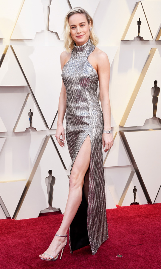 Brie Larson in Celine 