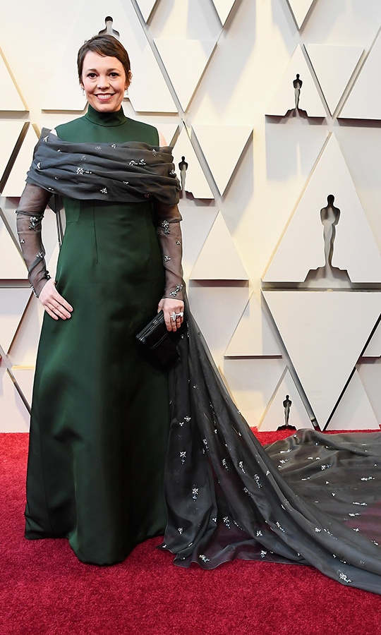 Olivia Colman in Prada