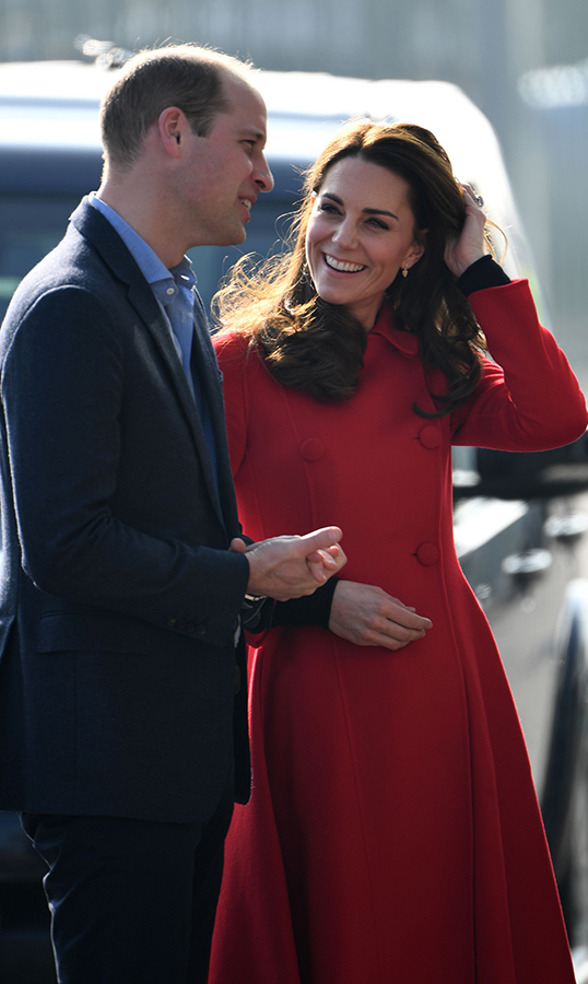 Prince William and Kate looked happy and relaxed as ever as they arrived at the Irish Football Association. Kate looked lovingly at her husband as they were greeted by an official.