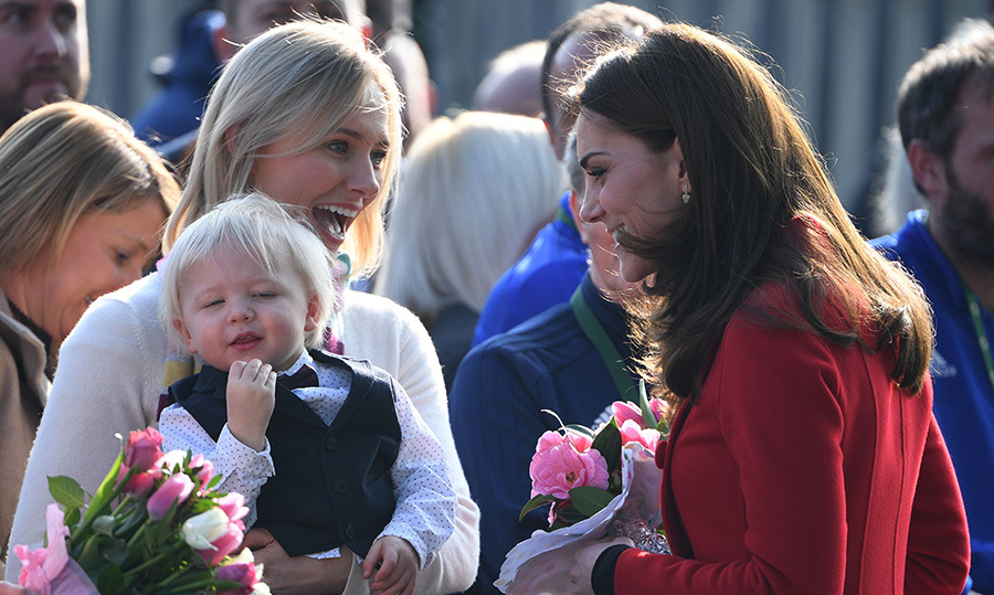 Kate met an adorable little one during their walkabout.