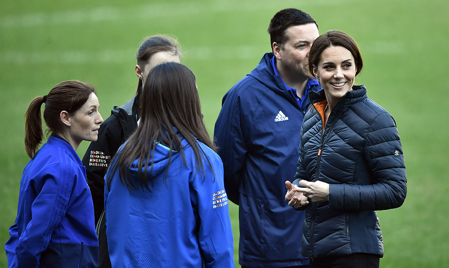 A known lover of sports, it's no surprise that Kate wanted to get in on the soccer fun!