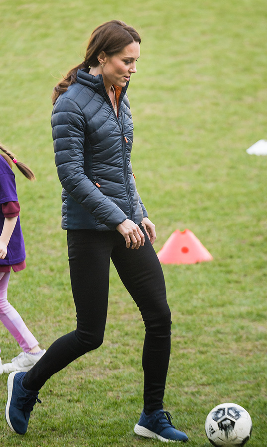 Kate showed off her skill in sports.