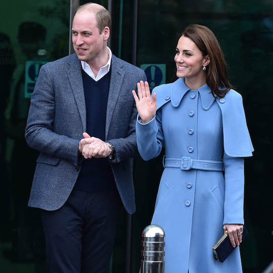 William and Kate arrived together at the Ballymena town centre for their first engagement of day two in Northern Ireland on Feb. 28. The two enjoyed greeting their fans during a walkabout.