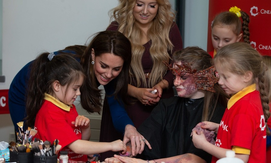 Kate helped some kids who were doing a fun prosthetics demonstration.