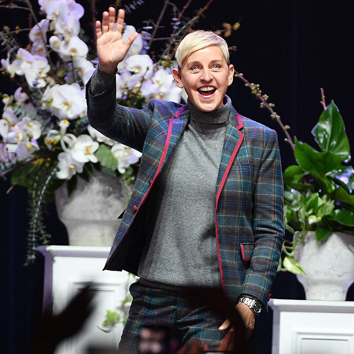 Hi, Ellen! Comedian and TV personality Ellen DeGeneres made a stylish appearance at a question and answer session for her Canadian fans in Toronto on March 3.