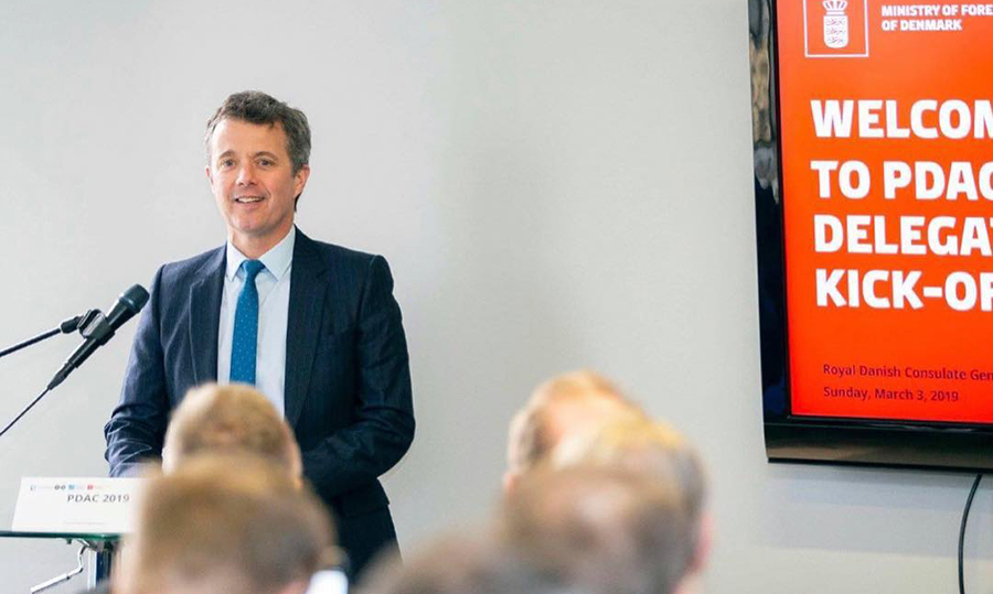 Frederik, Crown Prince of Denmark touched down on Canadian soil on March 3 for a great cause! The royal was in the city in support of a Danish-Greenlandic business promotional campaign at the Prospectors & Developers Association of Canada conference.