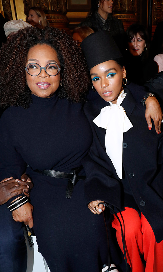 Oprah Winfrey and Janelle Monae sat front row and centre together at the Stella McCartney Paris Fashion Week show!