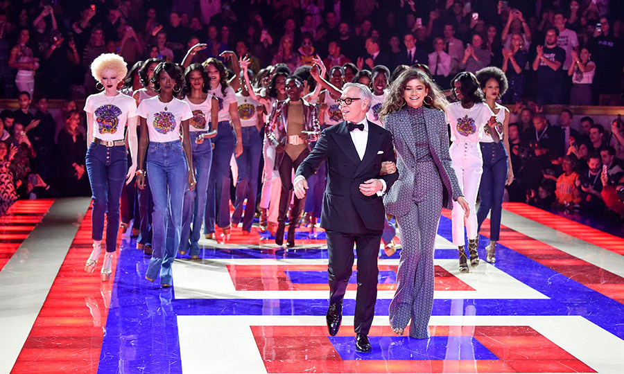 Fashion designer Tommy Hilfiger, actress Zendaya and models walked the runway during the Tommy Hilfiger TOMMYNOW Spring 2019 TommyXZendaya premiere on March 2.