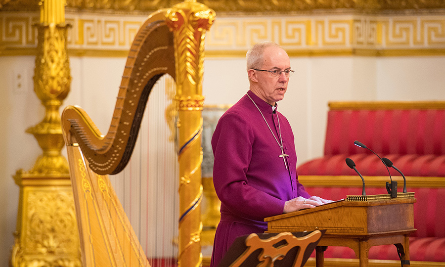 Archbishop of Canterbury Justin Welby spoke at the reception. Justin has been present for many royal occasions, and is always spotted at Sandringham on Christmas Day.