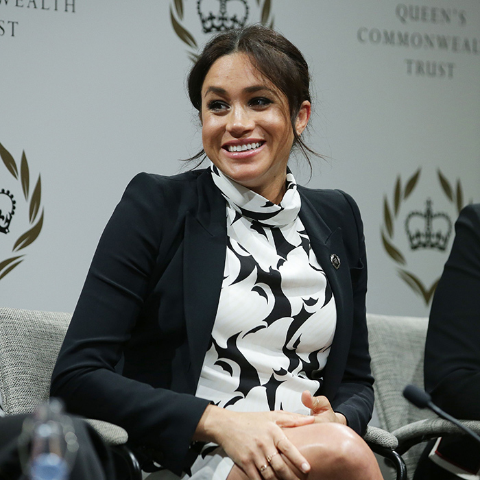 "Meghan showed off her winning smile during the talk. At one point, she asked: ""If things are wrong and there is a lack of justice and an inequality, someone needs to say something — and why can't it be you?""
