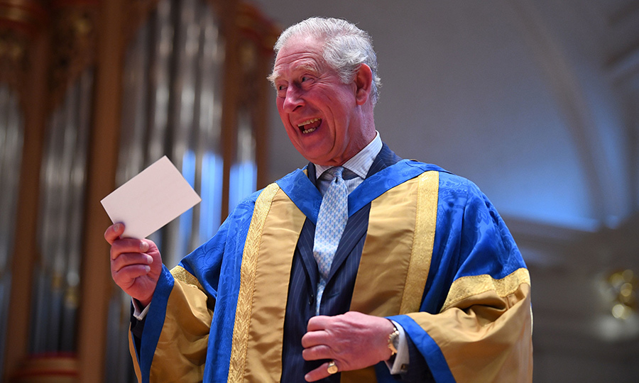 The Prince of Wales showed off his winning personality during the Royal College of Music's annual awards ceremony in London's South Kensington neighbourhood on March 6.