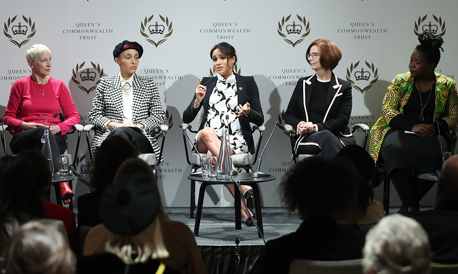 The Duchess of Sussex joined a group of six women on an International Women's Day panel. They discussed everything from Meghan's future royal baby to the importance of of education and women's empowerment.