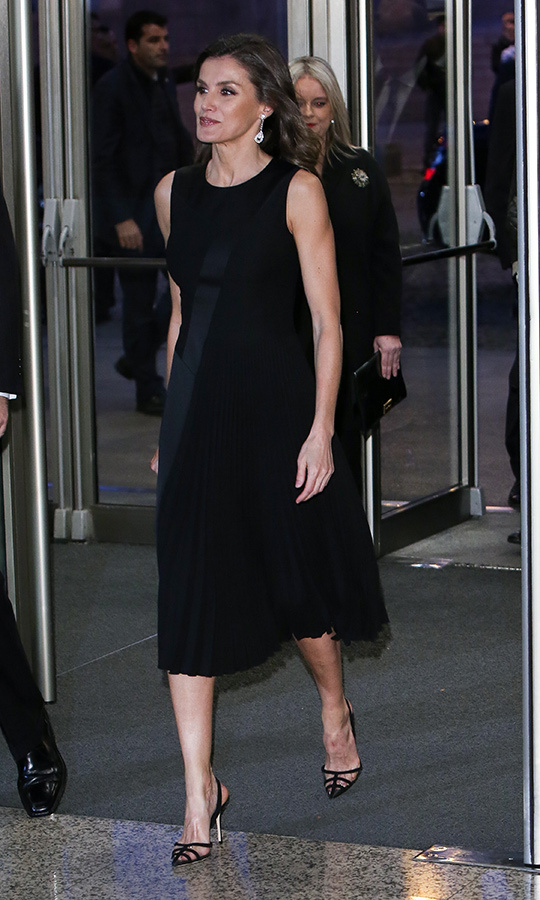 "On March 7, <strong><a href=""https://ca.hellomagazine.com/tags/0/queen-letizia"">Queen Letizia</a></strong> of Spain dazzled in a black dress and matching black sling-back sandals for the 'In Memoriam' concert at the National Auditorium in Madrid.