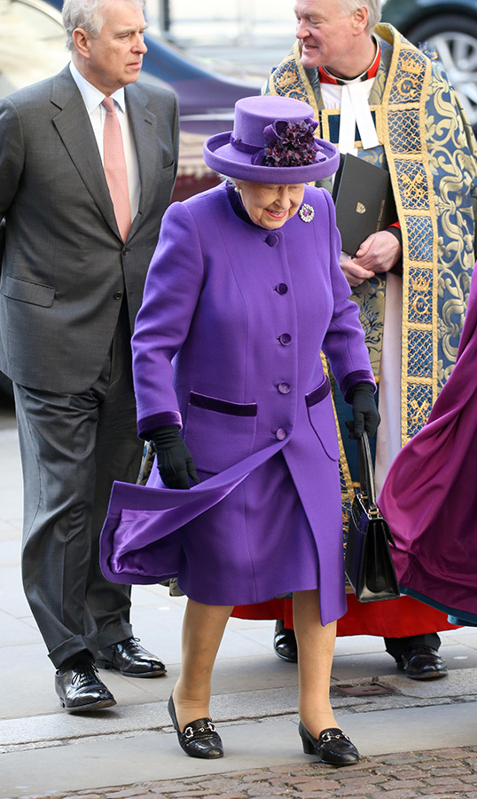 The Queen looked joyful as ever while arriving at Westminster Abbey.