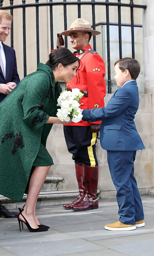 Of course, no Canadian event at the consulate would be complete without Mounties, and several were on hand to greet Duchess Meghan and Prince Harry as well!