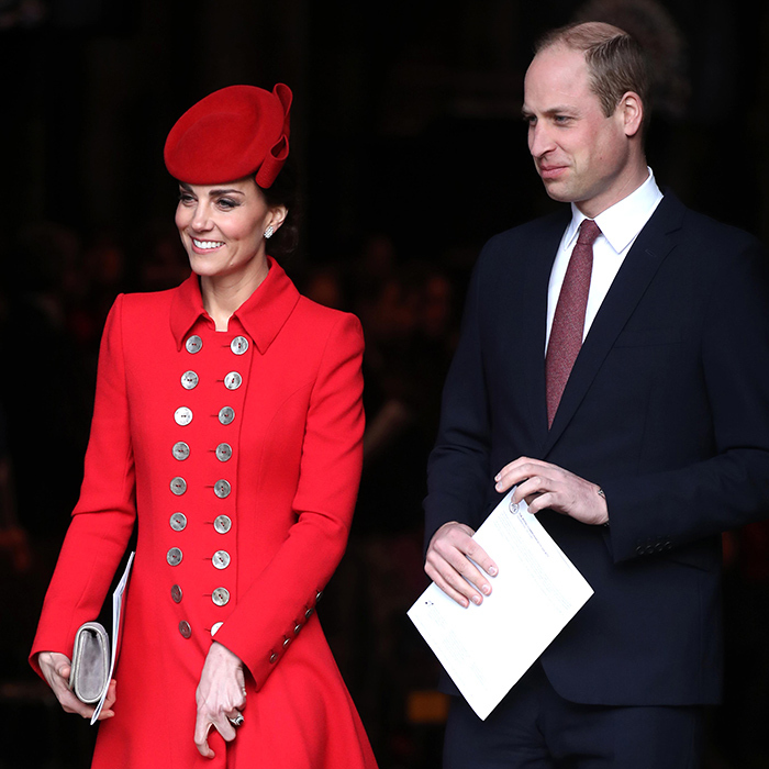 William and Kate showed off their winning smiles while leaving the special service.