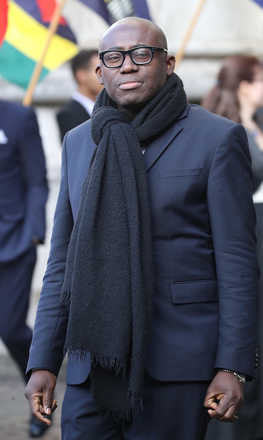 Editor-in-chief of British <em>Vogue</em> Edward Enniful joined the royals for the occasion.