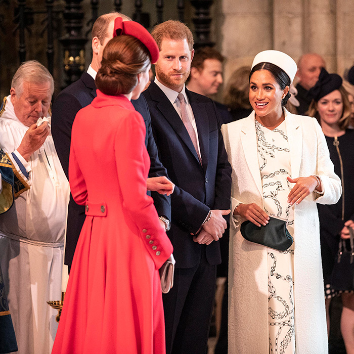 Meghan and Kate chatted before the service began.
