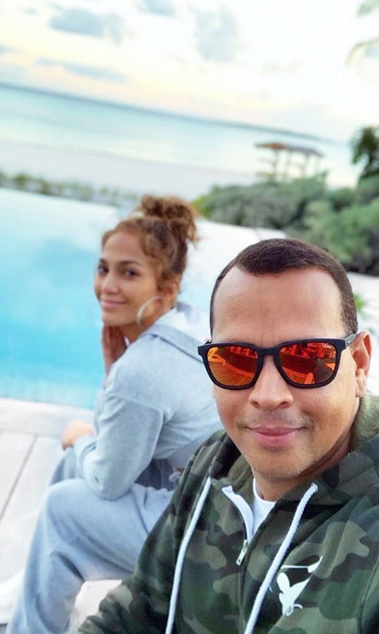 "Just a couple days before he popped the big question, the former baseball player shared a candid snap with Jennifer. The two were pictured sitting by a pool, with Jennifer looking makeup-free and flawless. A-Rod captioned the snap: ""Enjoying a little R&R with my ❤️.""