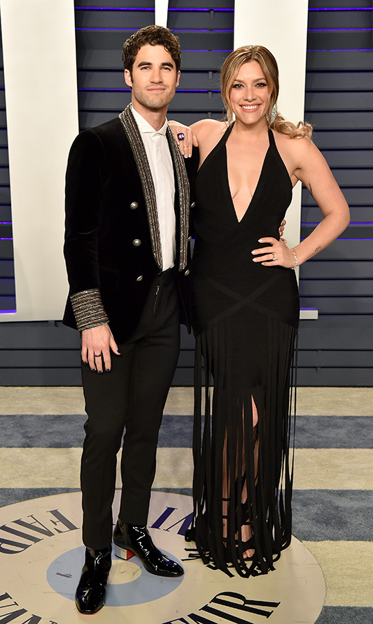 <h2>Darren Criss and Mia Swier</h2>