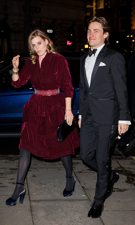 Princess Beatrice and Edoardo Mapelli Mozzi made their official public debut at the Portrait Gala on March 12. Beatrice stunned in a crimson belted gown, while her beau looked dapper in a tuxedo.