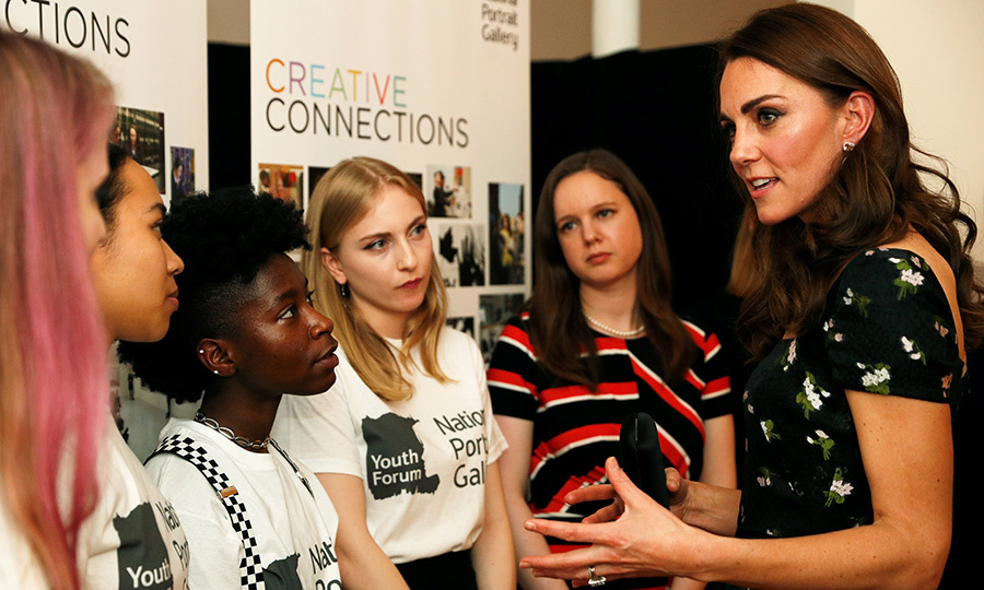 The Duchess of Cambridge spoke to members of the National Portrait Gallery youth forum as she attended the 2019 Portrait Gala. Kate is royal patron of the National Portrait Gallery.