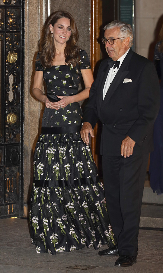 Kate turned heads in her stunning reworked Alexander McQueen gown, which she first wore to the 2017 BAFTAs.