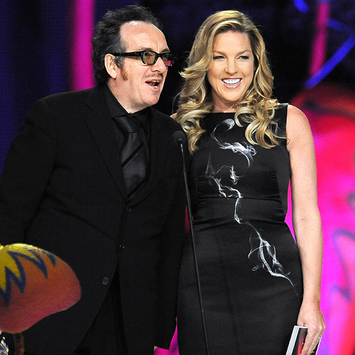 Elvis Costello and Diana Krall presented the award for Album of the Year to Nickelback for their album <em>Dark Horse</em>.