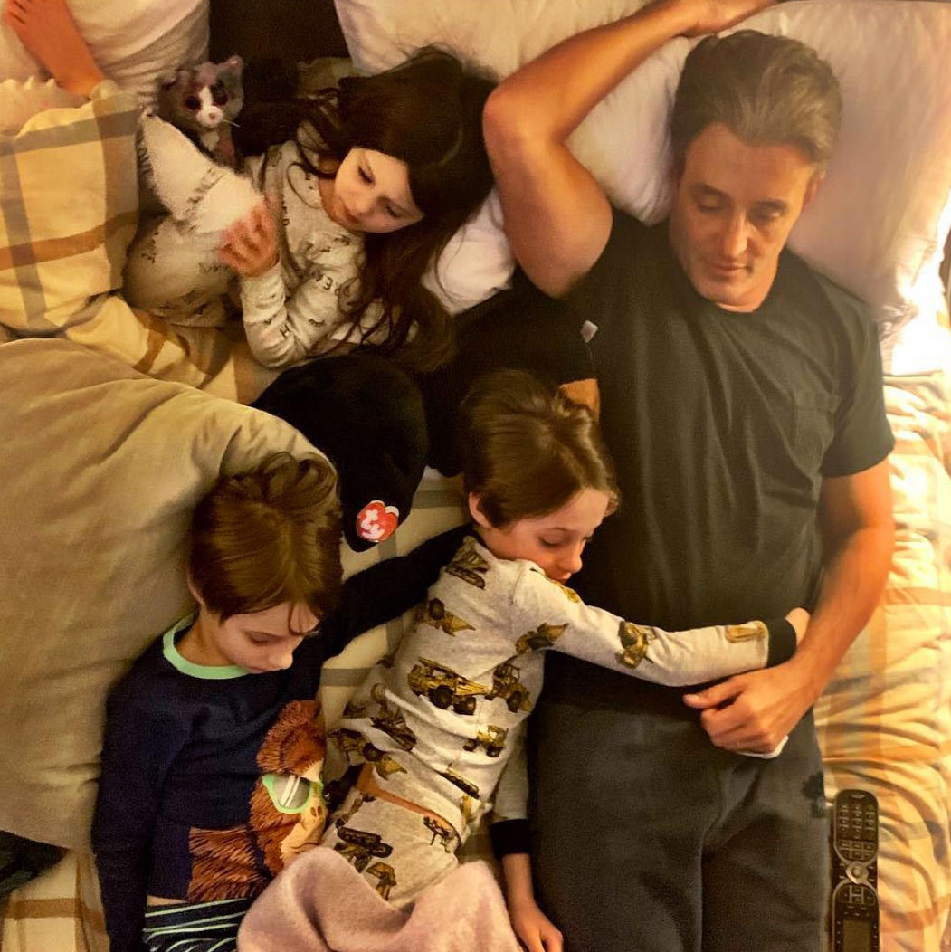 The Mulroney children are also regularly featured on Jessica's Instagram, where she shows off both the incredible and everyday things she and her family do on a regular basis. Here they are sleepy with dad Ben! Aww!</p>