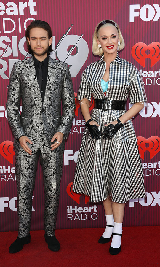 "<strong>Zedd</strong> and <strong><a href=""https://ca.hellomagazine.com/tags/0/katy-perry""> Katy Perry</a></strong> rocked off-kilter patterns that were a mix of classic '50s style and glam-punk. The two also presented an award together at the event, and Zedd also took one home himself for ""The Middle,"" his collaboration with Maren Morris and Grey. It won song of the year! 