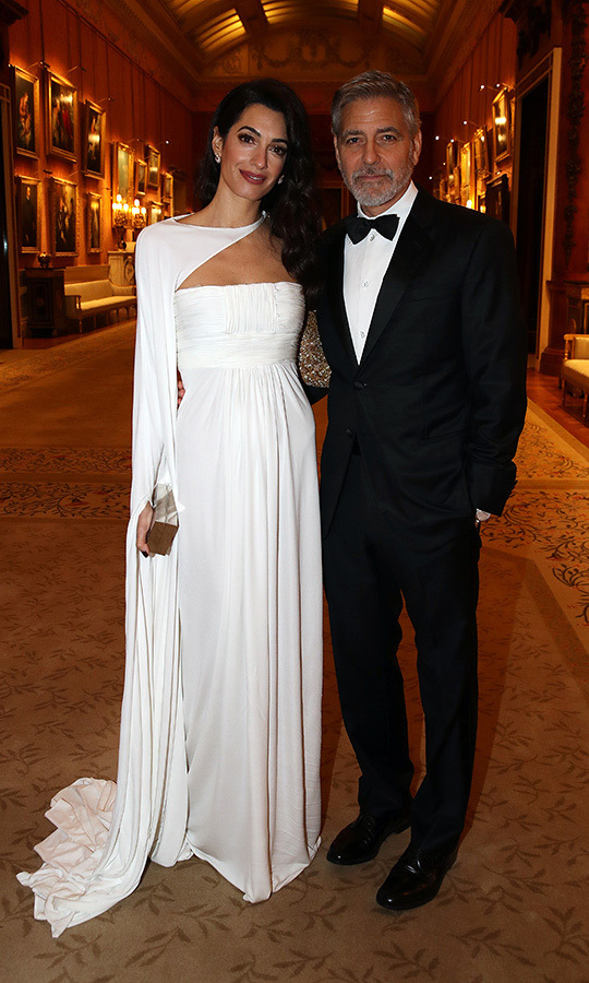 "Just two days before, Amal stepped out with <strong><a href=""https://ca.hellomagazine.com/tags/0/george-clooney"">George</a></strong> at Buckingham Palace, wearing a gorgeous white gown from Jean-Louis Scherrer by Stephane Rolland. 