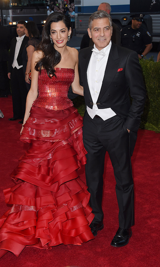 From one Met Gala to another! This is the look Amal wore to the 2015 Metropolitan Museum of Art Gala in New York. 