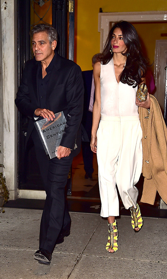 Those shoes! Those pants! That top! Amal has never been afraid to take risks with her looks, and she proved that with this outfit she wore in March 2015 in New York.