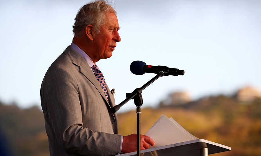 The Prince of Wales then delivered a speech at the end of the welcome ceremony.