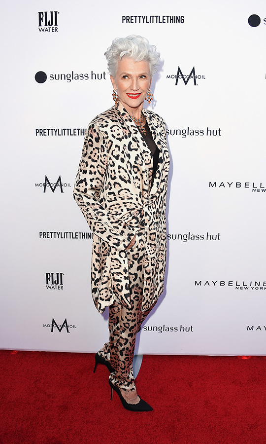 <strong>Maye Musk</strong> stepped out in a leopard print suit. The CoverGirl spokesmodel and mother of Elon Musk looked every bit the style maven she is. 