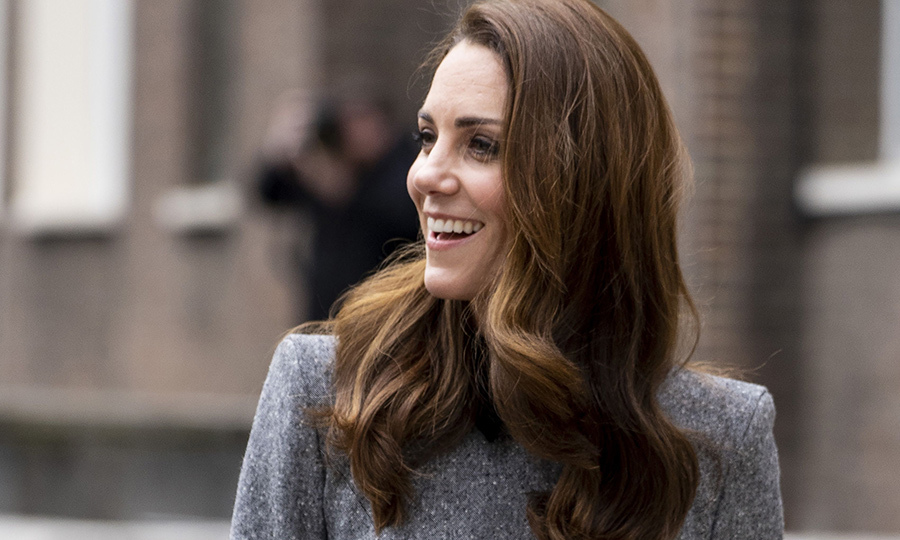 Kate had removed her fascinator before heading to the museum, and smiled and waved at more wellwishers that had gathered outside before her appearance.