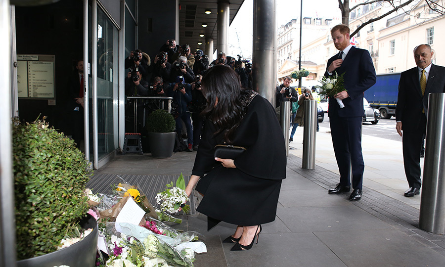 The duchess then laid flowers as a tribute to the victims outside New Zealand House. Fifty people were killed and dozens more were injured in the Christchurch attacks on March 15 when a gunman entered two mosques in the city and shot worshippers at Friday prayers.