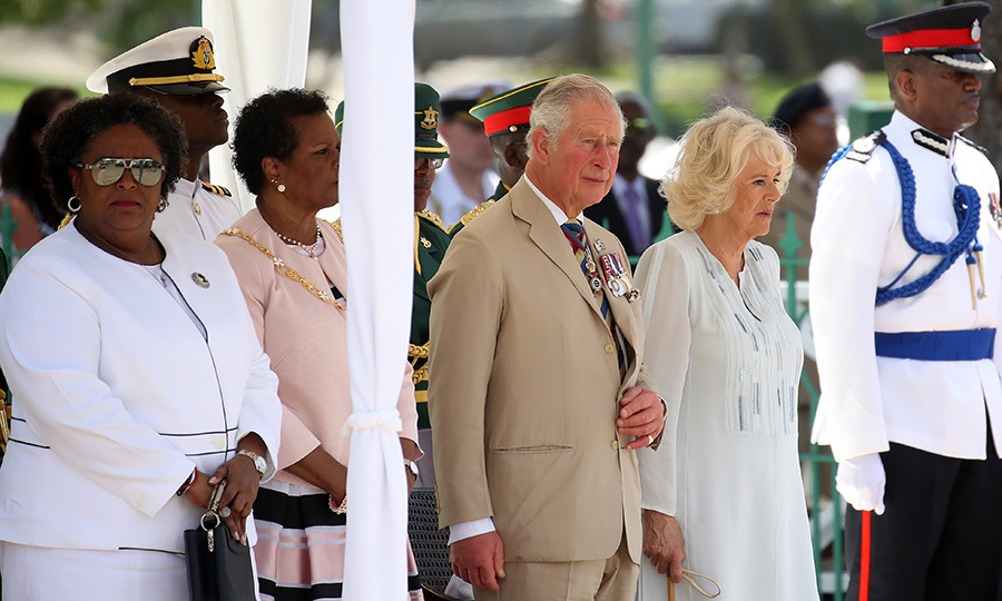 "On Tuesday (March 19), the <A href=""https://ca.hellomagazine.com/tags/0/prince-charles"">Prince of Wales</a> left Saint Lucia and flew to Barbados to meet the <a href=""https://ca.hellomagazine.com/tags/0/duchess-of-cornwall"">Duchess of Cornwall</a>. The two were greeted in Bridgetown, the capital, by Mia Mottley, the country's first female prime minister, and were given a special millitary parade on Charles's arrival.