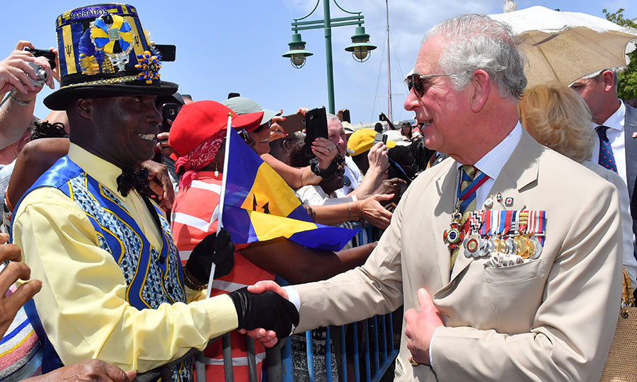 Charles and Camilla then did a walkabout after the ceremony, shaking hands with Barbadians who had stood in line for hours to meet them.