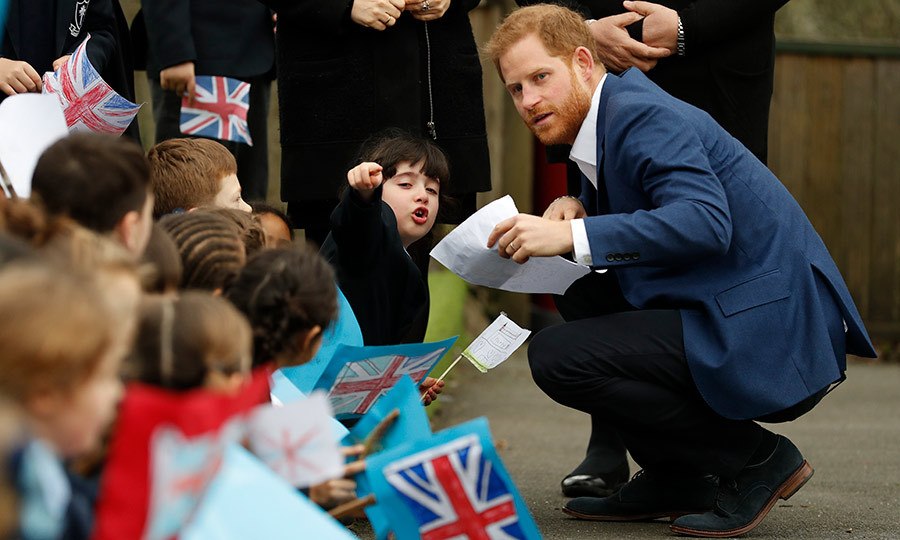The prince took the time to speak with six-year-old Stella, who seemed very excited to meet him!
