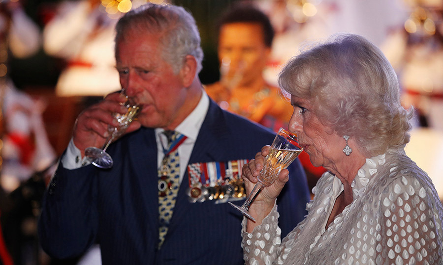 Charles and Camilla finished their day with a reception at the prime minister's house back in Bridgetown. 