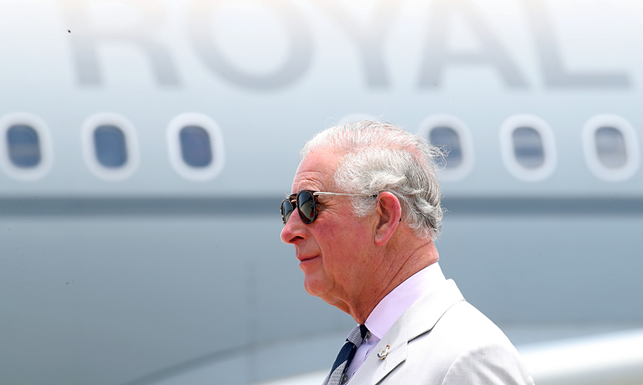 On March 20, Prince Charles and Duchess Camilla arrived in Saint Vincent and The Grenadines. The prince looked cool and collected in shades as he got off the royal jet.