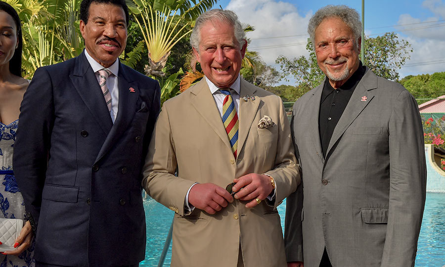 Lionel and Prince Charles were also joined by singer <strong>Tom Jones</strong> at the event.