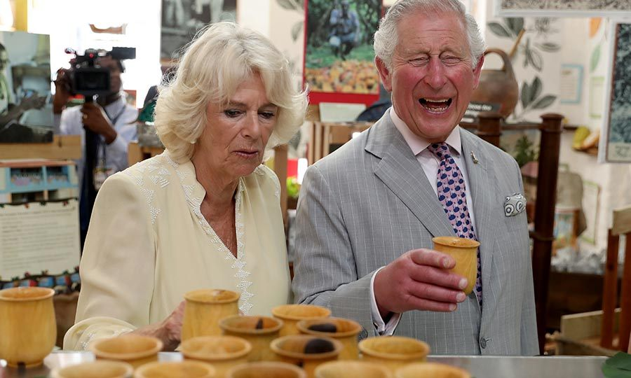 The royal couple visited a chocolate house in Saint George's and also got in a few more laughs!