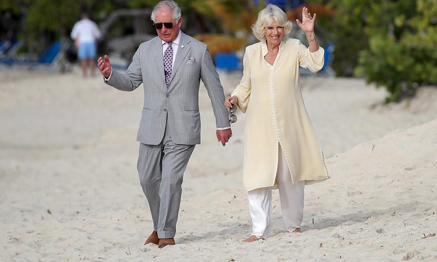 Charles and Camilla also later took a walk together on the beach on Saturday, which makes us jealous considering how cold it is still here in Canada!