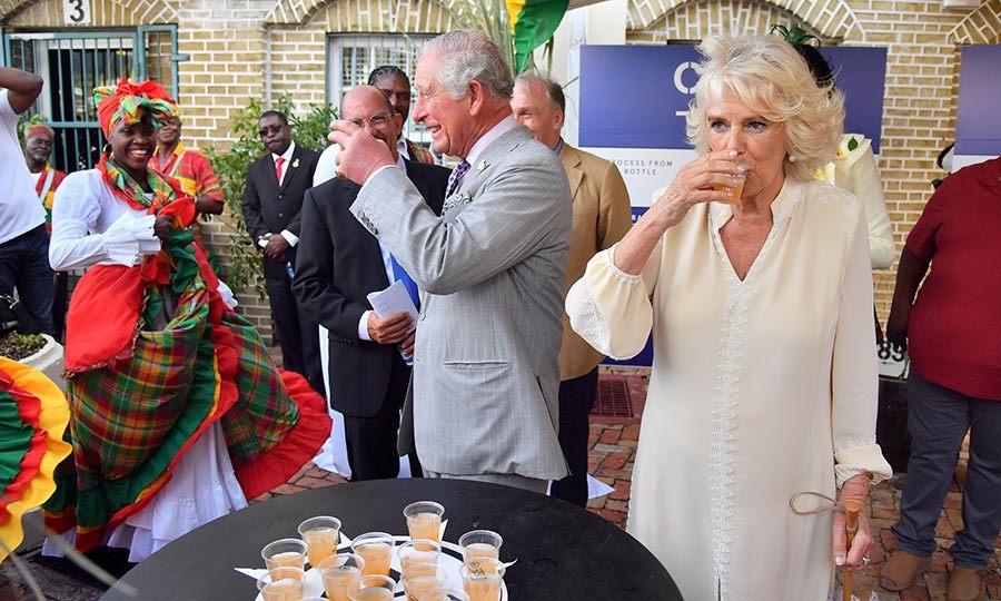 The couple also sampled some rum punch at a market in St. George's. We bet it was delicious!