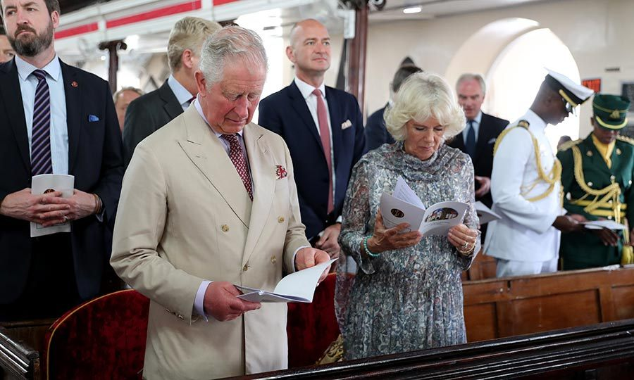 "The <strong><a href=""https://ca.hellomagazine.com/tags/0/prince-charles"">Prince of Wales</a></strong> and <a href=""https://ca.hellomagazine.com/tags/0/duchess-of-cornwall""><strong>Duchess of Cornwall</a></strong> spent their Sunday (March 24) back in Barbados, where they attended a church service at St. Michael's Cathedral in Bridgetown. Camilla looked relaxed and comfortable in a floral dress. 