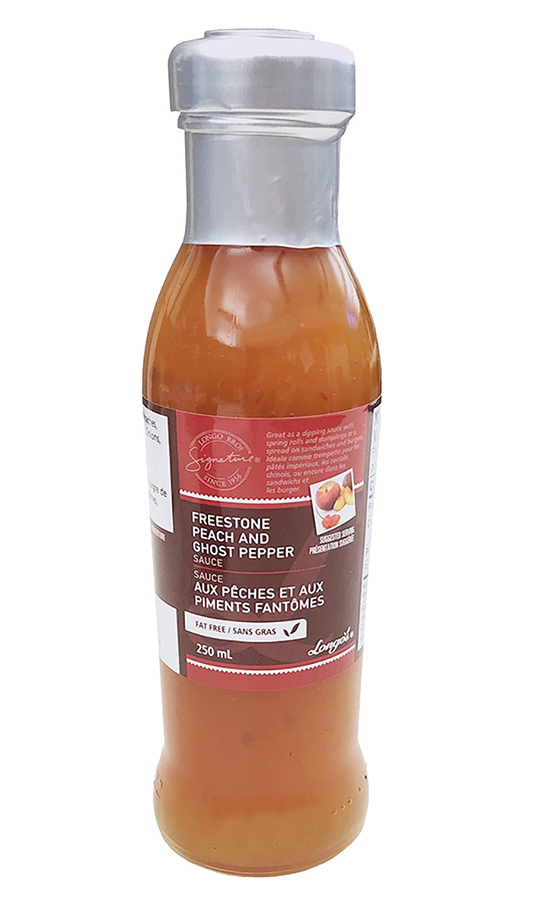 <h2>Longo's Signature Freestone Peach and Ghost Pepper Sauce, $4.99</h2>